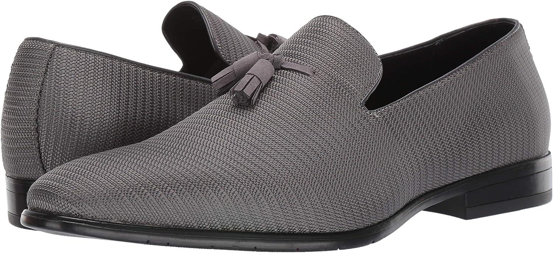 Stacy Adams Men/'s Tazewell Plain Toe Tassel Slip On Gray Lofer 25343-020
