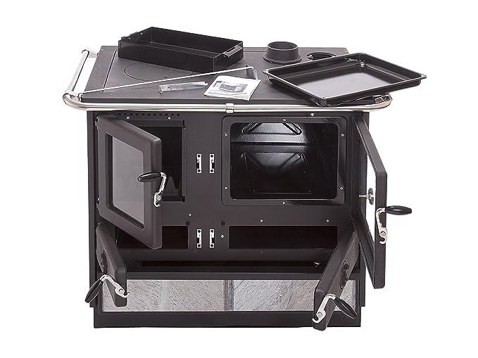 Cocina de leña con estructura en acero fundido MALINA ...