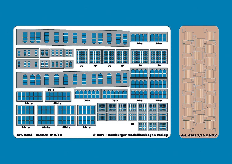 HMV 4303 Lasercut-Detailset f/ür Bremen IV Inneneinrichtung