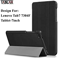 Taslar Leather Stand Function With Magnetic Lock Flip Cover Case For Lenovo Tab7 7304F Tablet [7 Inch] (Black)
