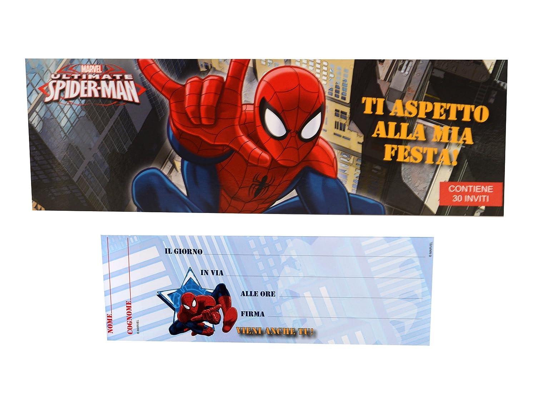 Blocchetto 30 Inviti SPIDER MAN: Amazon.it: Giochi e giocattoli
