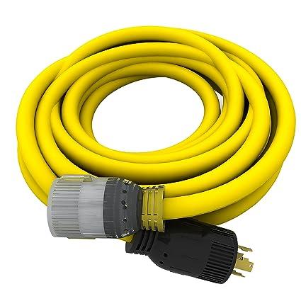 240v Extension Cord >> Amazon Com 10 4 240v L14 30 25 Ft Generator Extension Cord