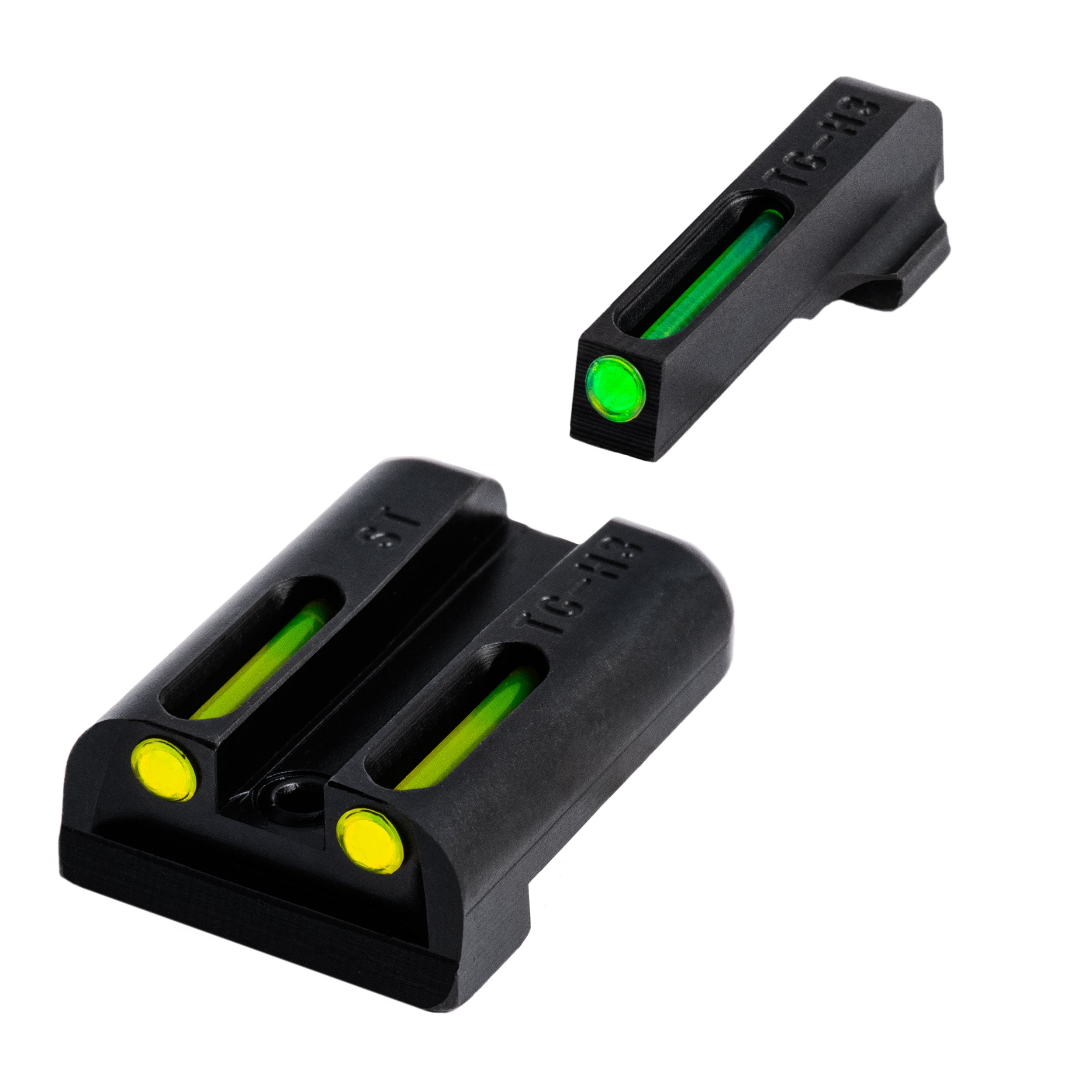 TRUGLO TFO Handgun Sight Set - Sig #6/#8 Green/Yellow Rear