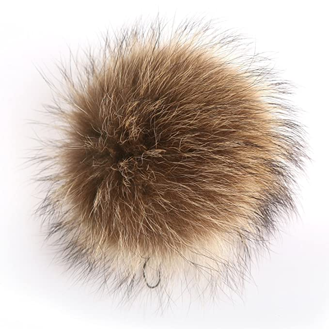 7d06f9996ff6 Amazon.com  Fur Pom Pom Keychain Bag Charm - Real Fox Raccoon Fur Ball Sexy  Hangbag Charms FURTALK Original  Clothing