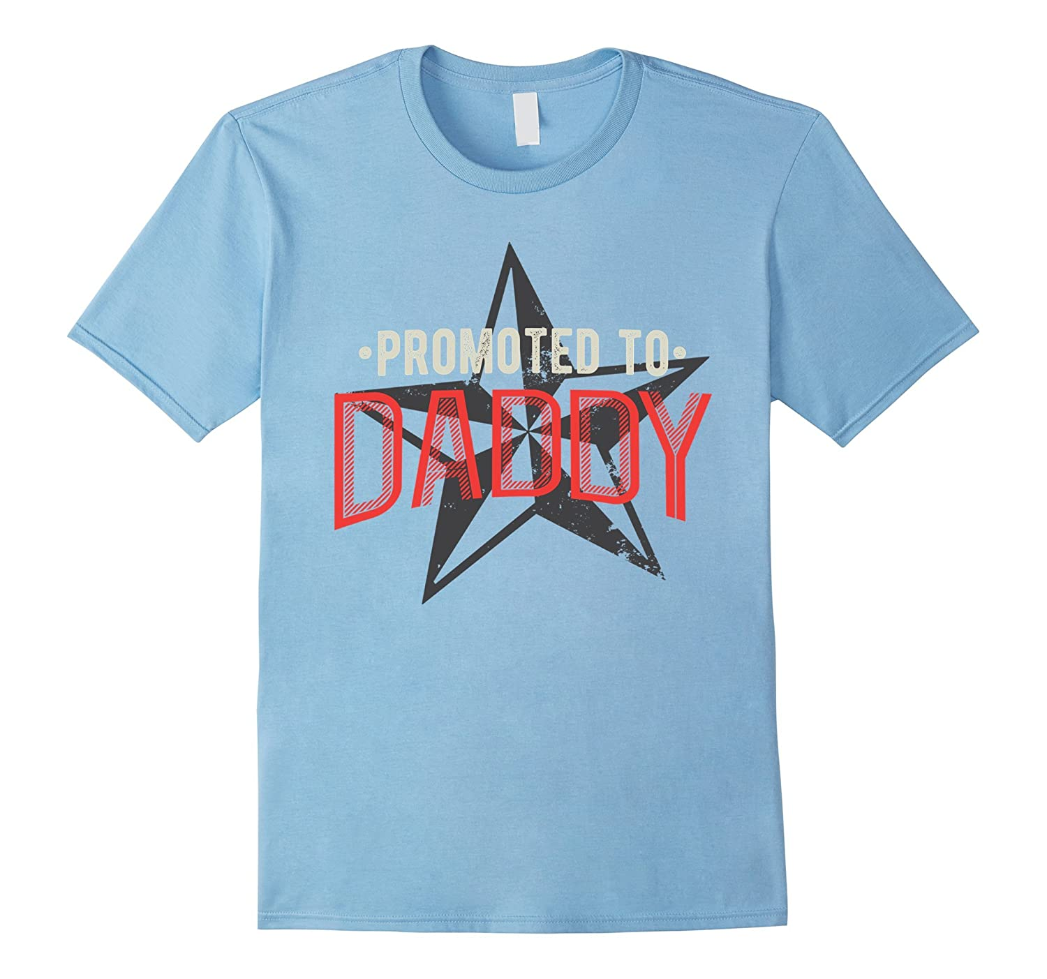 Promoted to Daddy - New Father T-Shirt for Men, Star Design-FL