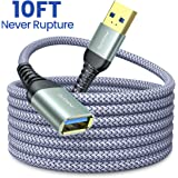 10FT USB 3.0 Extension Cable Type A Male to Female Extension Cord AINOPE High Data Transfer Compatible with USB Keyboard,Mouse,Flash Drive, Hard Drive