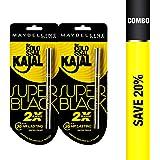 Maybelline New York Colossal Kajal, Super Black (Pack of 2 at 20% Off)