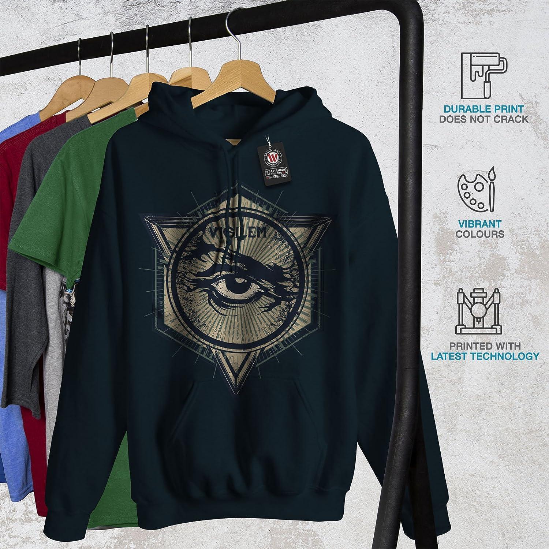 Triangle Denim Hooded Sweatshirt Wellcoda Vintage Triangle Mens Hoodie