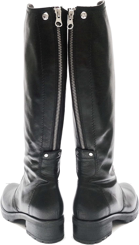 Nero Giardini 13944 stivali da donna in pelle col. Nero con
