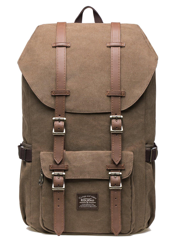 KAUKKO Rucksack Studenten Backpack 17 Zoll für 15 Notebook Lässiger Daypacks Schüler Bag für Wandern Rucksack, 47 cm, 22.4 Liter, (42Black) HS-APD-03-FBA
