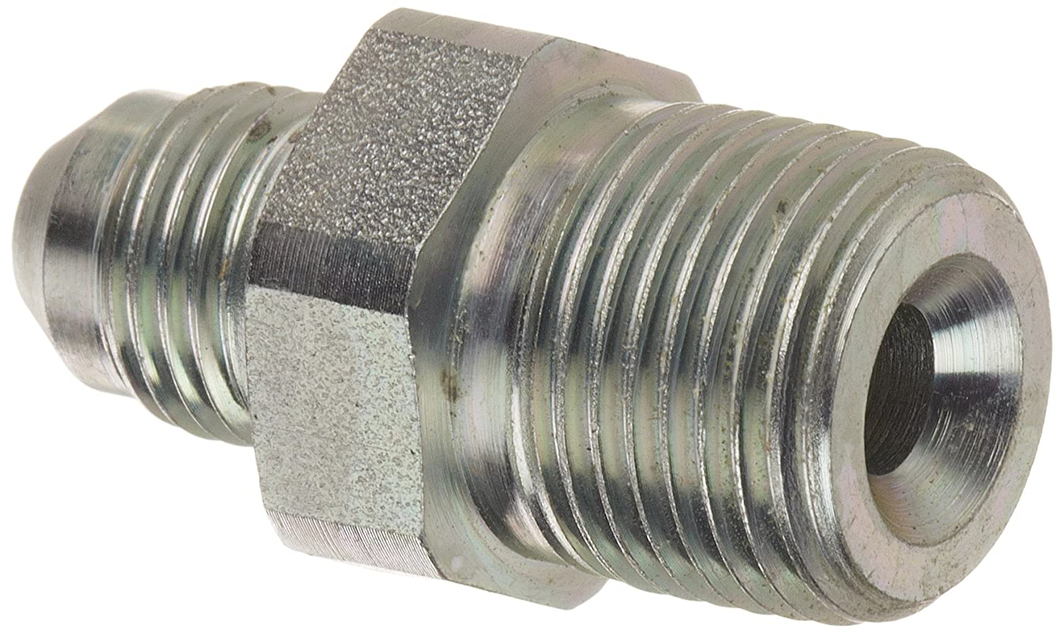 m End Size Carbon Steel 5//16 Tube OD 3//8 NPT x 5//16 JIC Eaton Aeroquip 2021-6-5S Male Connector Male 37 Degree JIC m JIC 37 Degree /& NPT End Types Male Pipe Thread