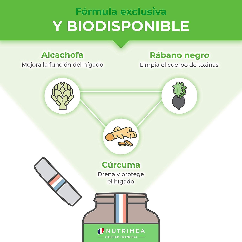 Detox Depurativo Higado y Colon Diurético Natural | Complejo Bio Alcachofa Rábano Negro Cúrcuma Orgánica | Drenante Desintoxicante Digestión Limpieza ...