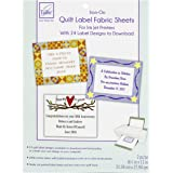 June Tailor Quilt Label Fusible Fabric Sheets, Other