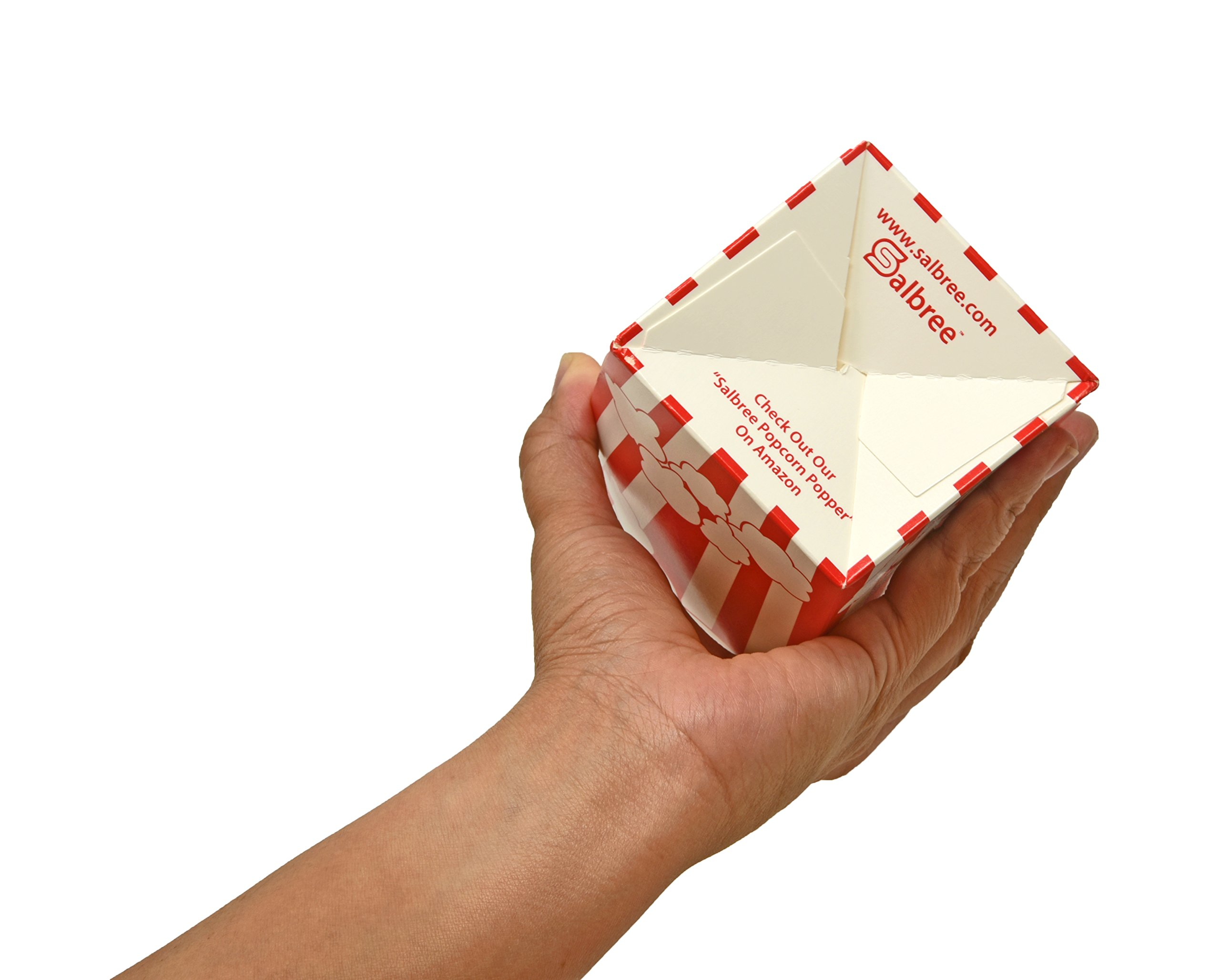 30 Popcorn Boxes, 7.75'' Inches Tall and Holds 46 Oz. with Old Fashion Vintage Retro Design with Red and White Colored, Nostalgic Carnival Stripes by Original Salbree by Salbree (Image #8)