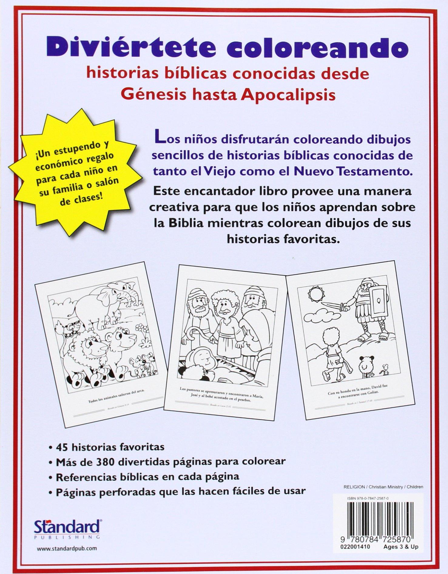 El libro gigantesco para colorear de historias biblicas: Standard ...