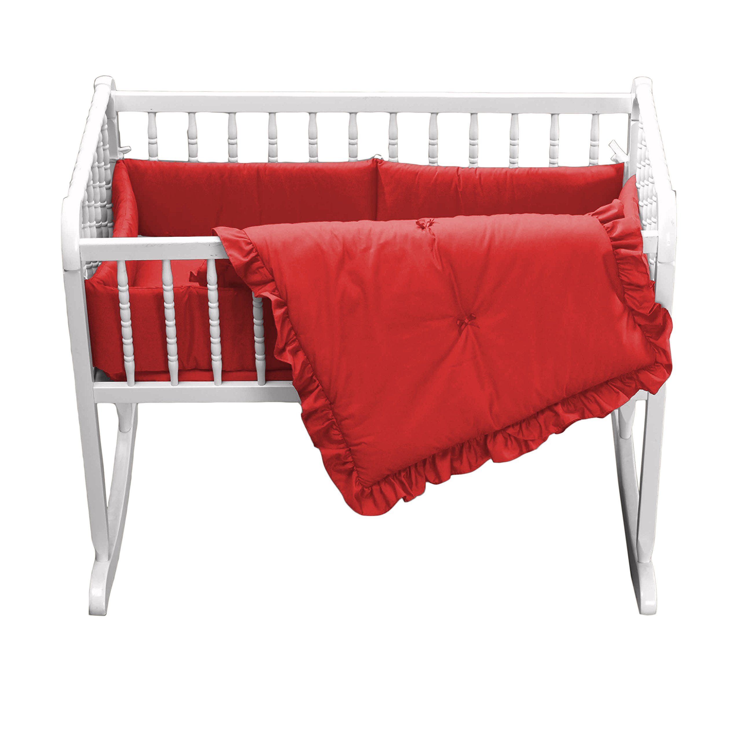 Babydoll Primary s Cradle Bedding, Red, 18''x36''
