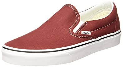 7f8fd8fb5eaf8 Vans Unisex Classic Slip-On Madder Brown/True White Skate Shoe 6 Men US/7.5  Women US