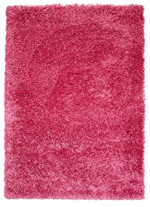 The Rug House Tapis Shaggy de Luxe Super Doux Couleur Rose Vif 5 Tailles Disponibles, Rose, 60_x_110_cm