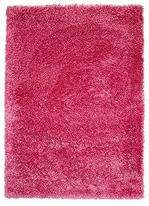 The Rug House Tapis Shaggy de Luxe Super Doux Couleur Rose Vif 5Tailles Disponibles, Rose, 60_x_110_cm