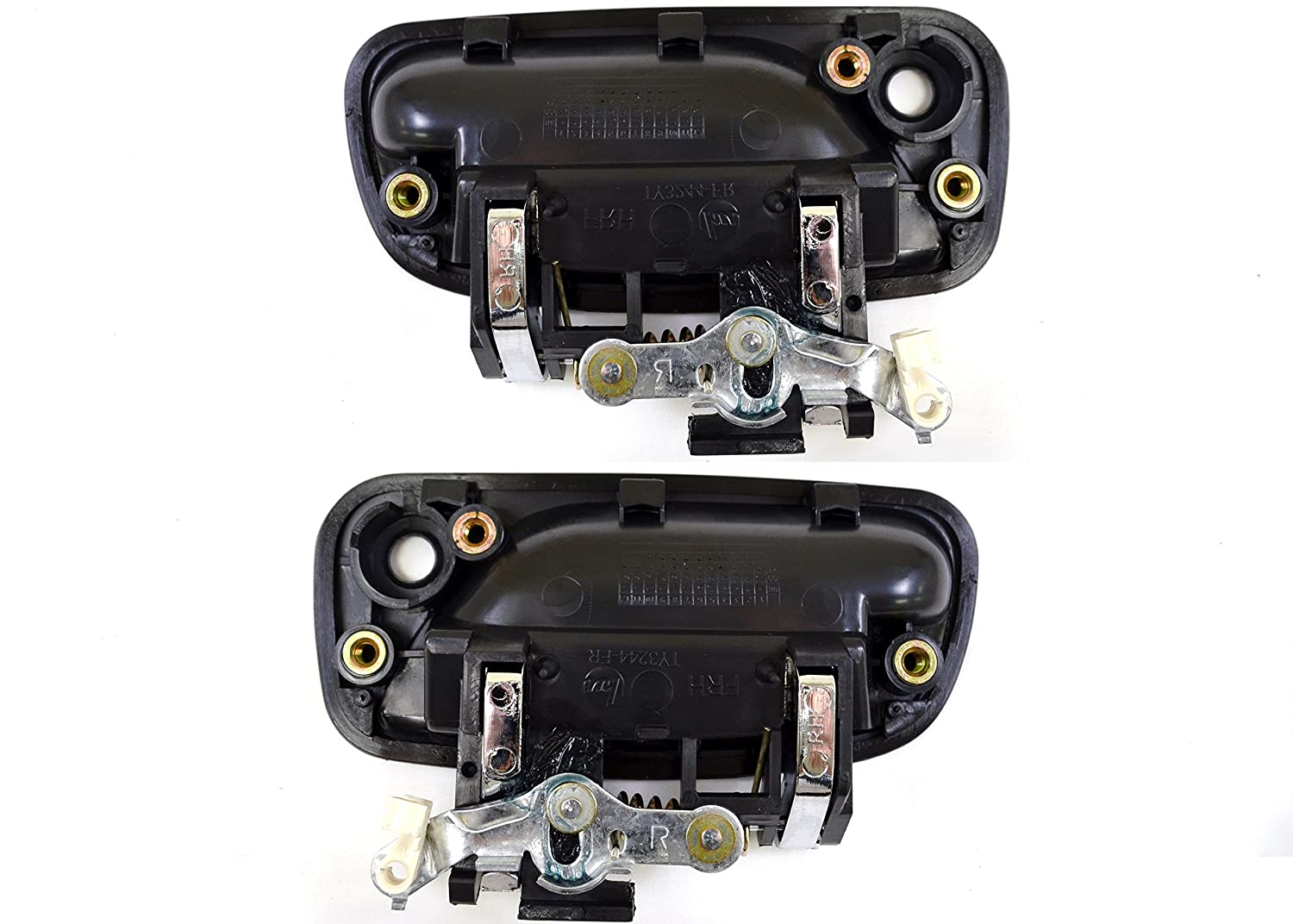 PT Auto Warehouse TO-3244MA-FP Black//Chrome Outside Exterior Outer Door Handle Front Left//Right Pair