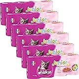 Whiskas boîtes de terrines aux viandes pour chat junior  4x400g - Lot de 6 (24 Boîtes)