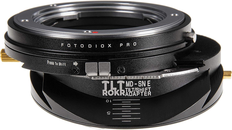 Fotodiox Pro TLT ROKR Adaptateur de Monture dobjectif pour objectifs Minolta MD vers appareils Photo Sony E-Mount