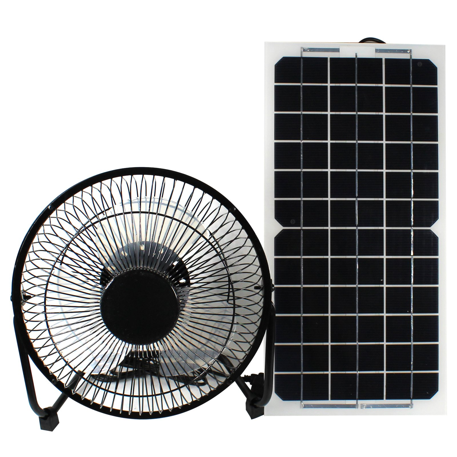 GOODSOZ 10W 12V Solar Panel Powered Fan Ventilator for RV Trailer Chicken House Dog House Roof Vent Multi-functional Charger