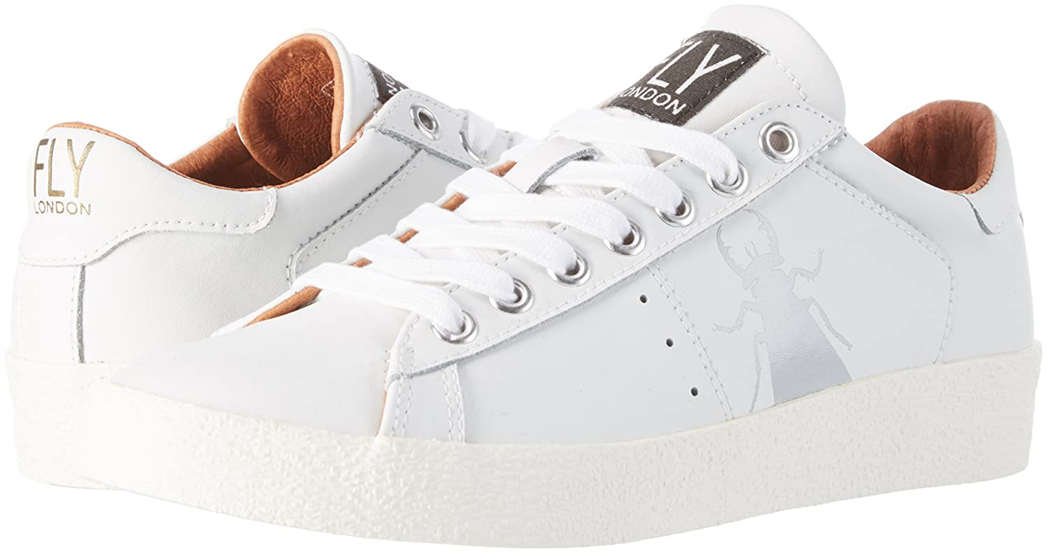 Fly London Berg823fly, Femmes, Chaussures Blanc (blanc / Beigered Laces), 38 Eu