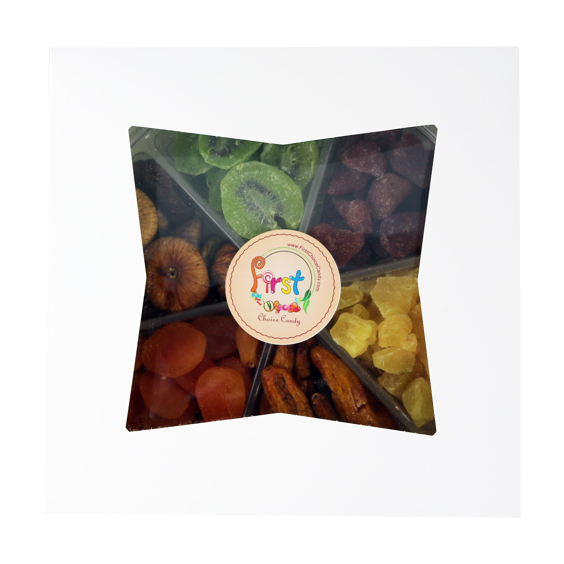 Dried Fruit Deluxe Gift Tray, 6 Section Collection of Fresh Fruits By FirstChoiceCandy by First Choice Candy (Image #7)