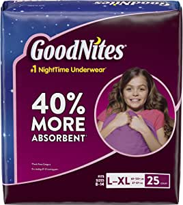 Huggies Goodnights Bedtime Big Pak Pants, Size 8-14/Large-X-Large (60-125+ Lbs), 25 Count