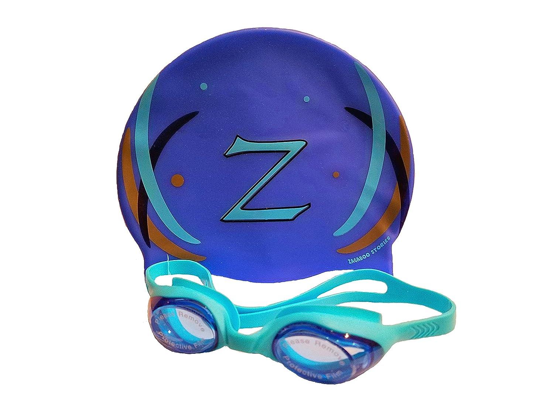 Zagaboo Swim Cap and Zoggles (ブルー)   B01KNFI5GW