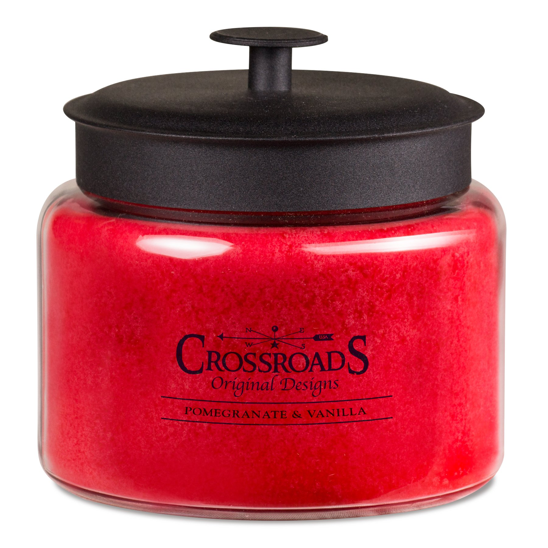 Crossroads Pomegranate & Vanilla Scented 4-Wick Candle, 64 Ounce