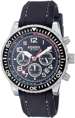 Fossil CH2626 - Reloj para hombres, correa de silicona color negro: Amazon.es: Relojes