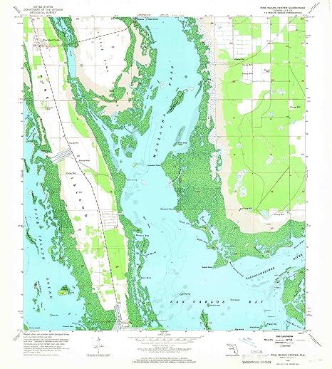 Amazon.com : YellowMaps Pine Island Center FL topo map, 1:24000 ...
