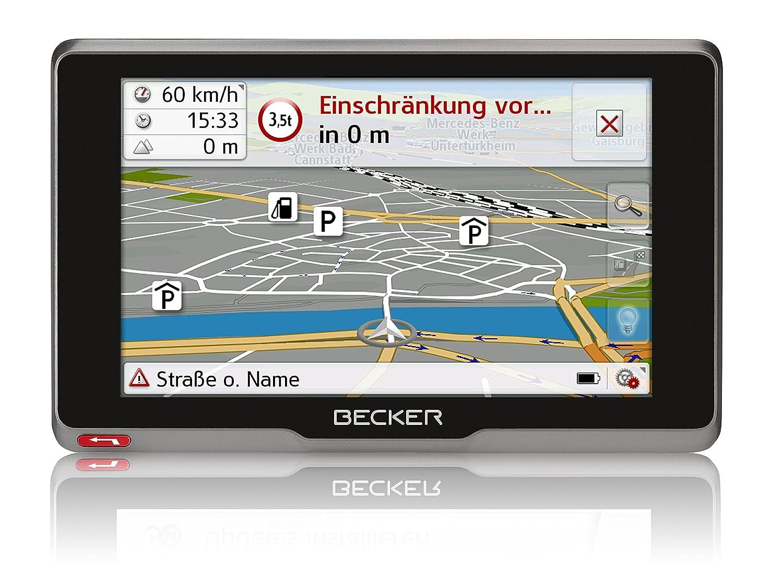 Becker transit.6sl EU plus Truck und Camper Navigationsgerä t (15,8 cm (6,2 Zoll) kapazitives Echtglasdisplay, 46 Lä nder, lebenslange Kartenupdates, Live Verkehr, Blitzerwarner, Sprachsteuerung) 200063