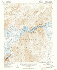 YellowMaps Hoover Dam AZ topo map, 1:62500 Scale, 15 X 15 Minute, Historical, 1953, Updated 1955, 20.8 x 16.9 in