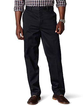 2b1fe10f852b5 Dockers Men's Classic Fit Flat Front Signature Khaki - 30W x 30L - Navy  (Cotton