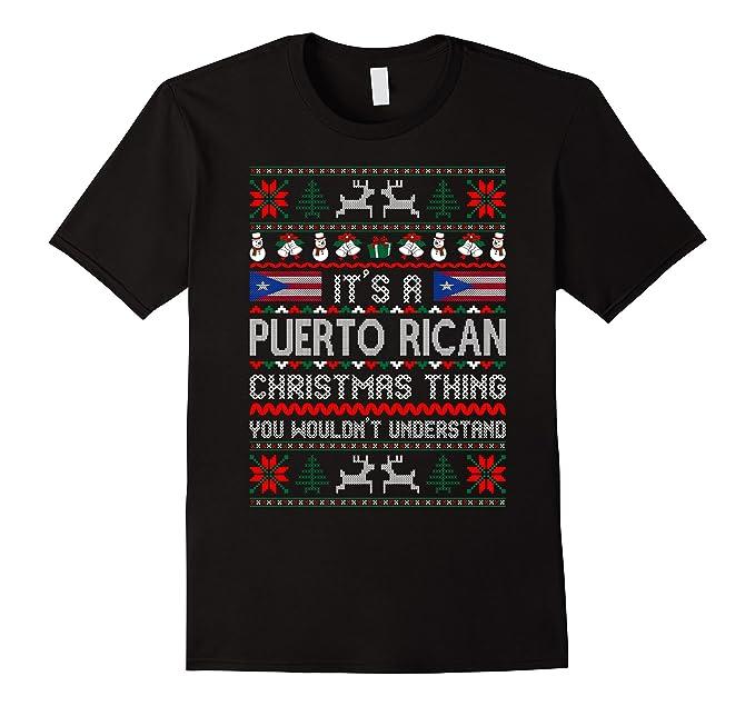 mens its puerto rican christmas thing ugly sweater tshirt 2xl black - Puerto Rican Christmas