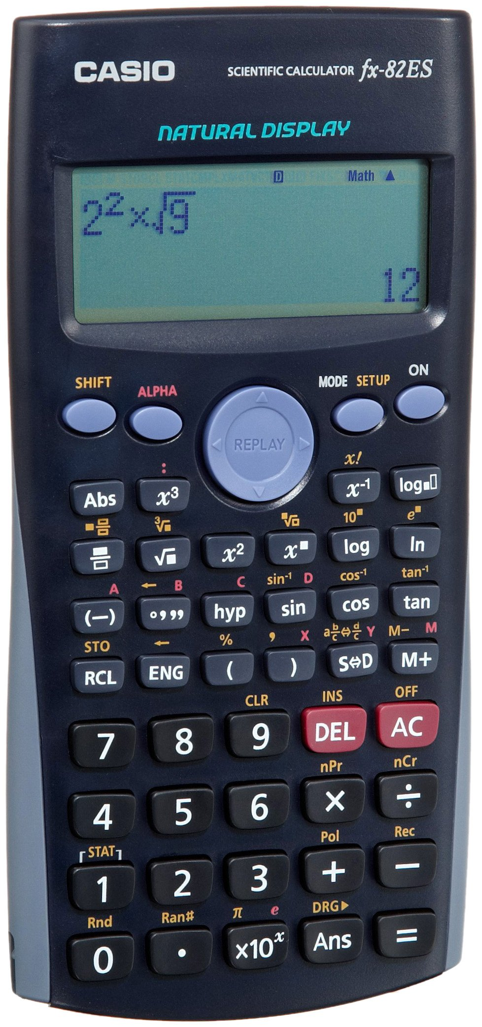Casio Fx-82es Natural Textbook Display Scientific Calculations Calculator with 252 Functions