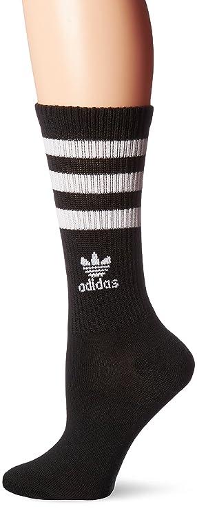 separation shoes d3ed9 be545 adidas Womens Originals Crew Sock, Medium, BlackWhite