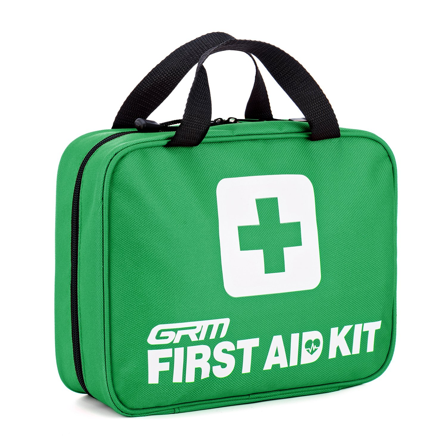 GRM FDA-Approved First Aid Kit, 118 PCS +34 Bonus Items,for Home Workplace School Travel Car Emergency