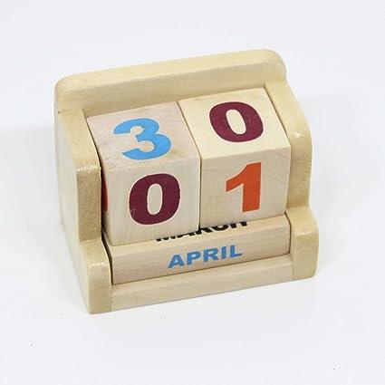 Ivei Minimal Desk Calendar Perpetual Wooden Calendars Mini