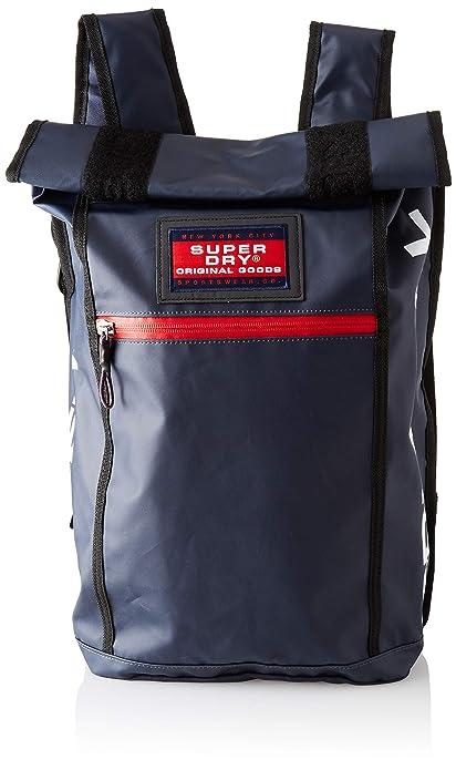 Superdry - Sd Rollman, Mochilas Hombre, Azul (Navy), 34x45x14 cm (W x H L): Amazon.es: Zapatos y complementos