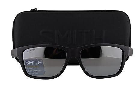 7d5df6c1a44 Smith Wolcott Sunglasses Matte Black w Polarized ChromaPop Platinum ...
