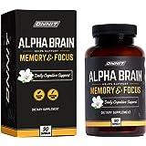 ONNIT Alpha Brain (90ct) - Over 1 Million Bottles Sold - Premium Nootropic Brain Supplement - Focus, Concentration & Memory -
