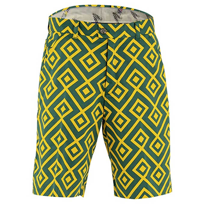 Royal & Awesome Bright Funky Colourful Mens Golf Shorts