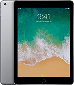 Apple iPad (5th Generation) Wi-Fi, 128GB - Space Gray (Renewed)