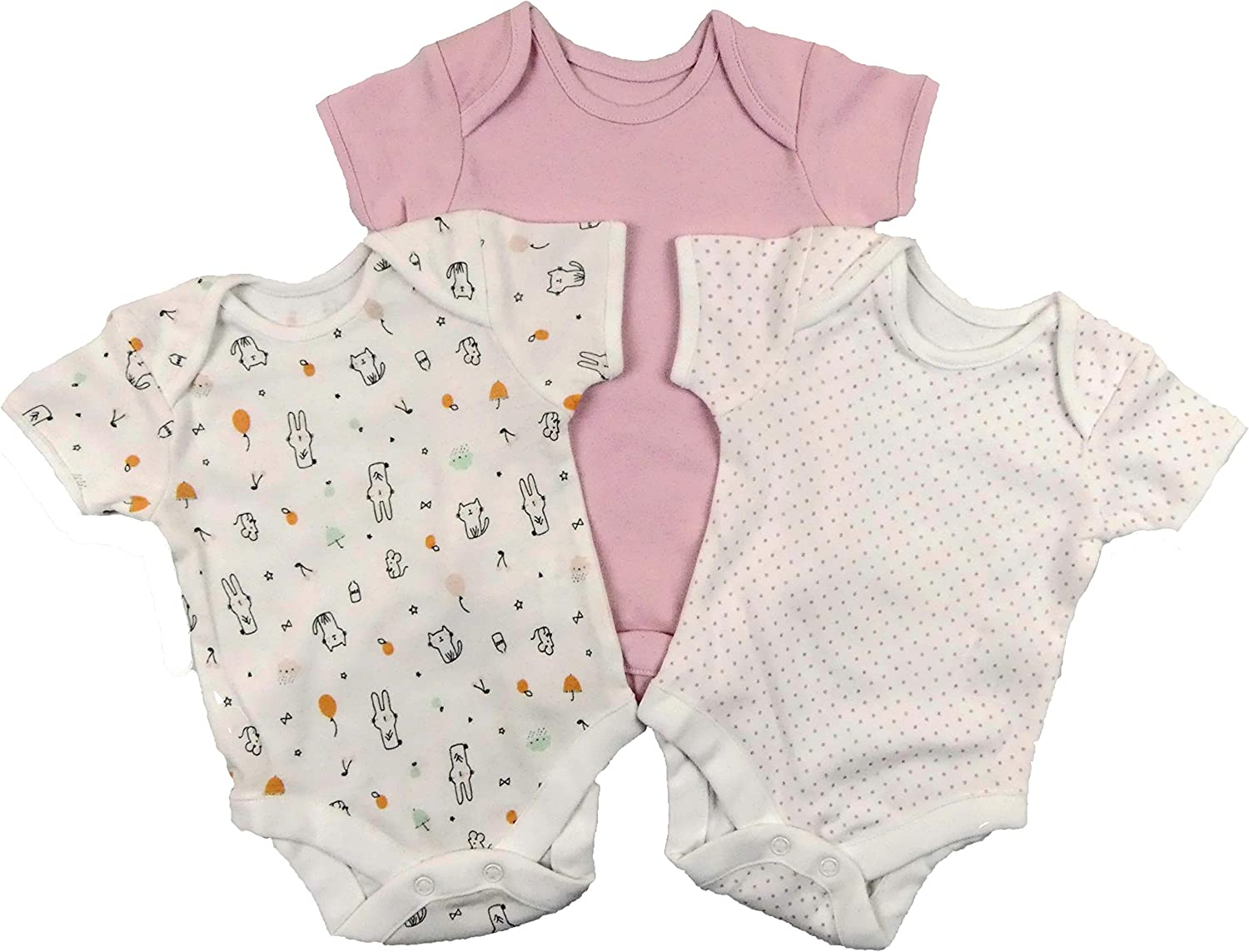 Baby Boys and Girls 3 OR 7 Pack Bodysuits Popper Vests Newborn up to 24 Months