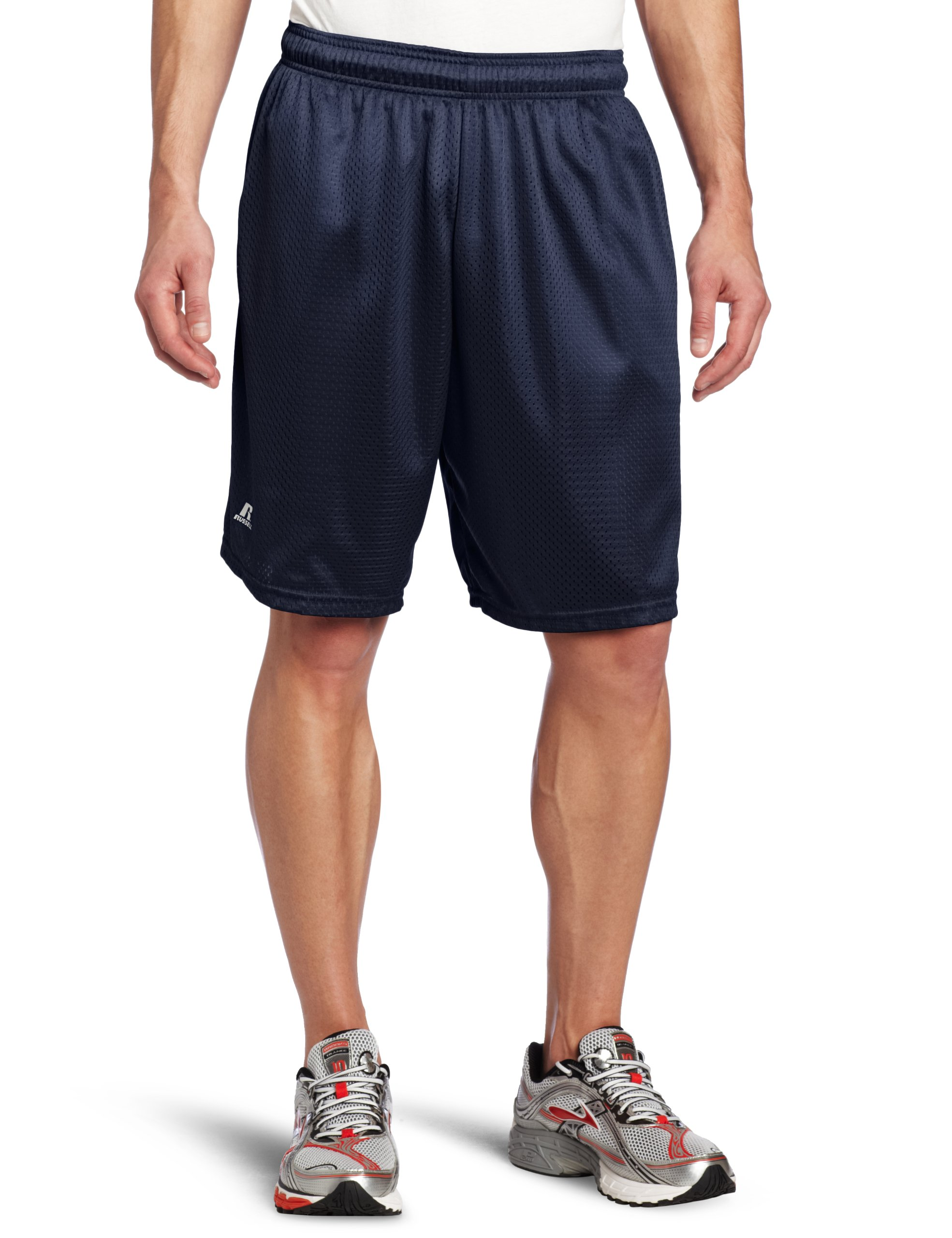 Russell Athletic Men's Mesh Short with Pockets, Navy, 3X-Large