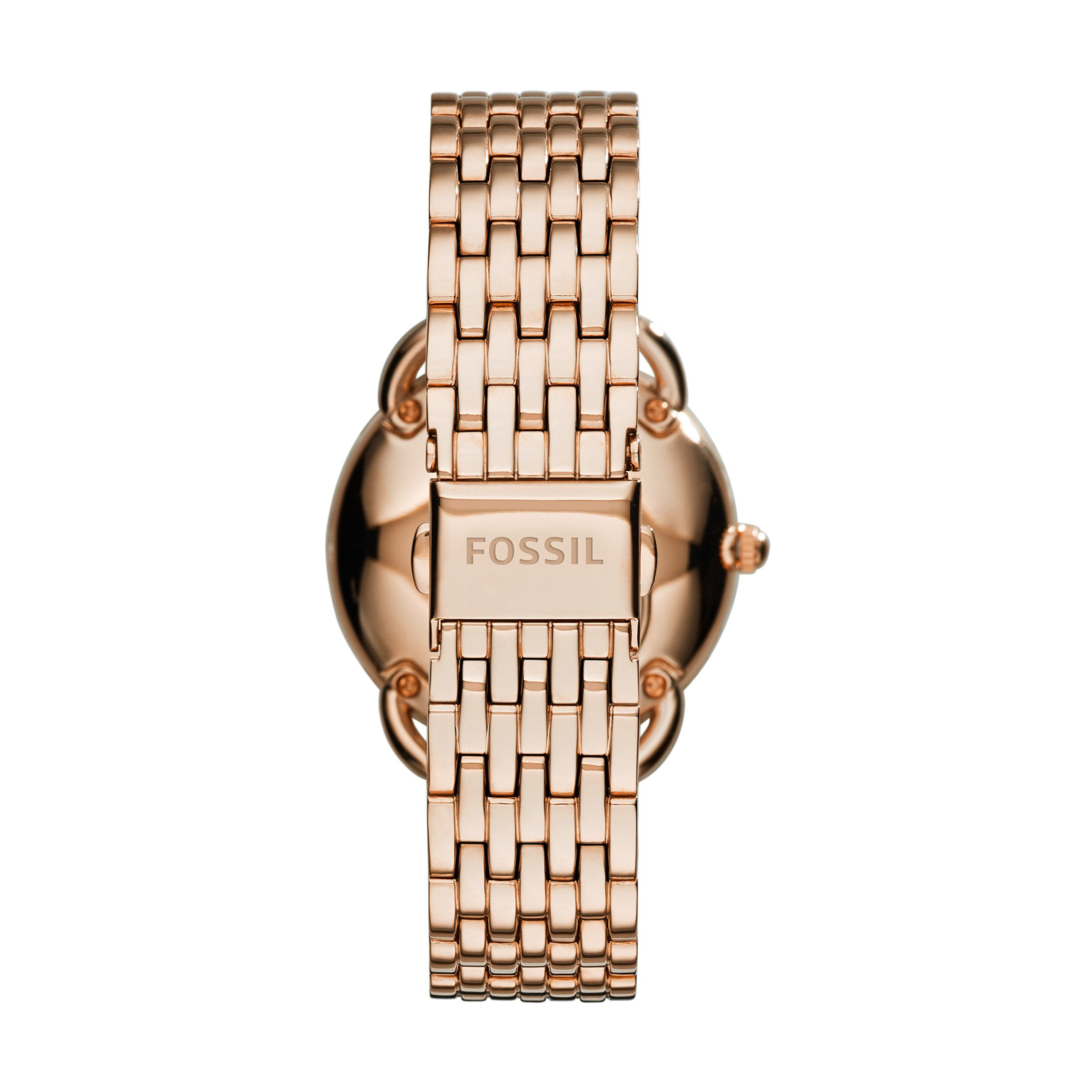 Fossil Women's Tailor Quartz Stainless Steel Dress Watch, Color: Rose Gold-Tone (Model: ES3713) by Fossil (Image #4)